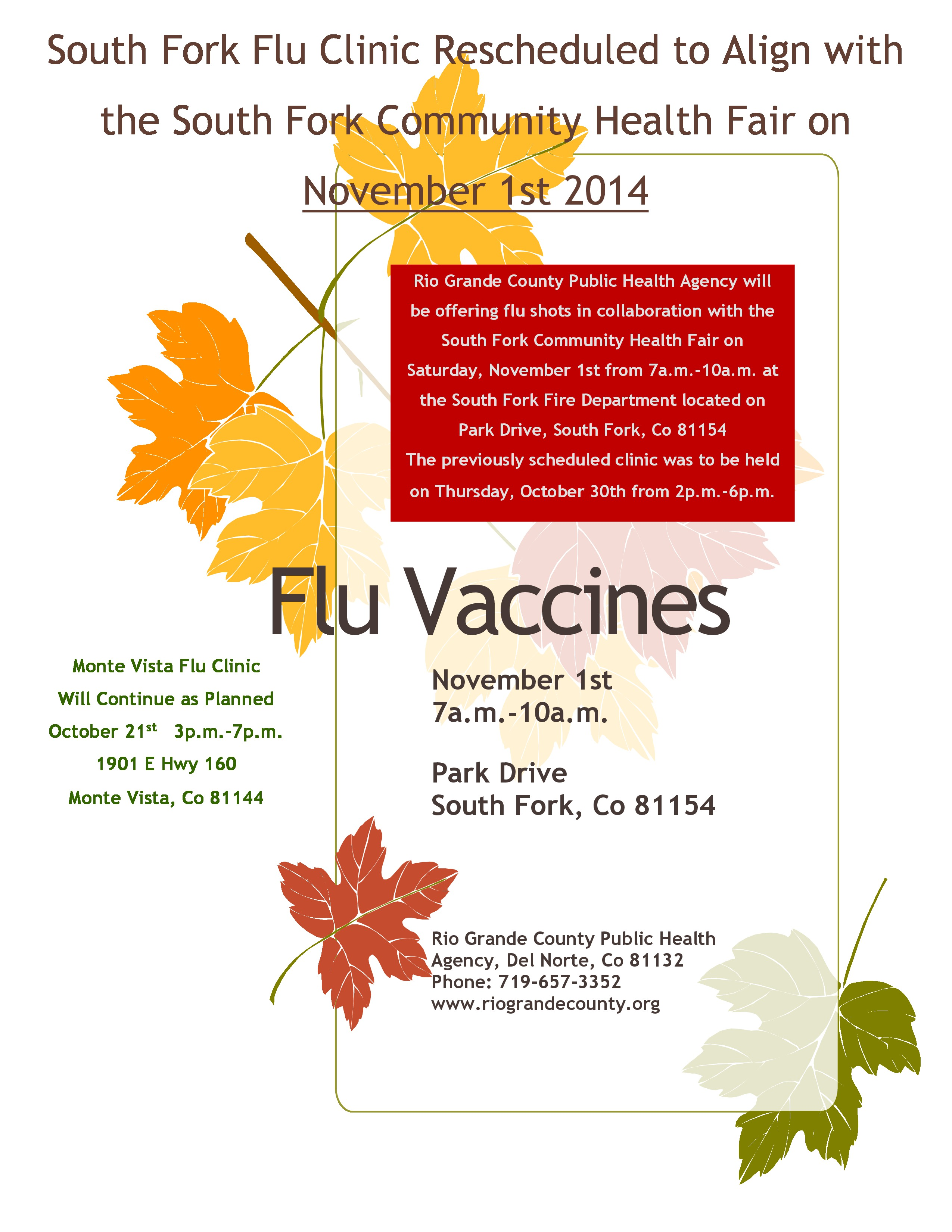 SF Flu Flyer