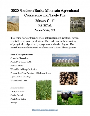 2020 Southern Rocky Mountain Agricultural Conference and Trade Fair